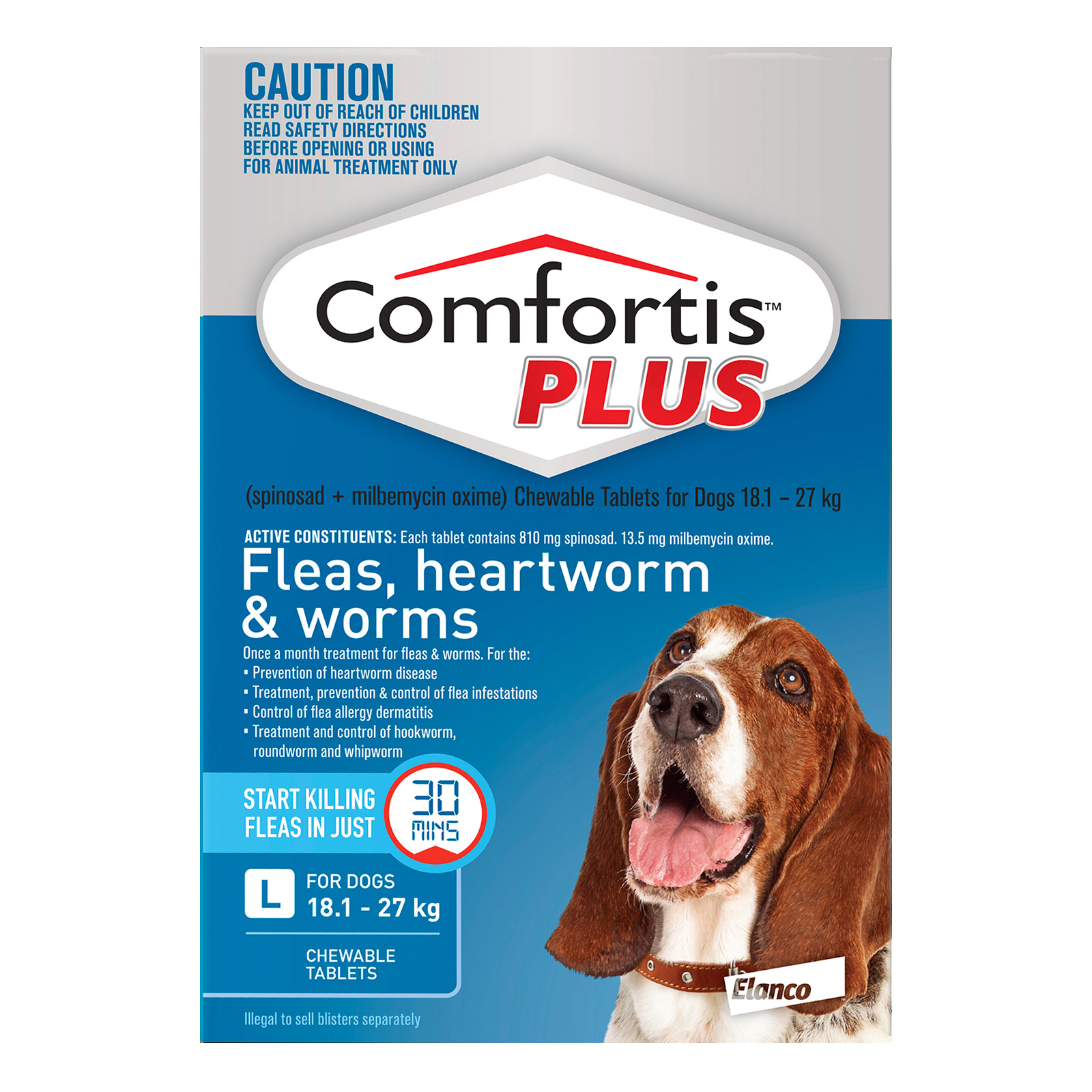 Comfortis Plus For Large Dogs 18.1-27kg (Blue)