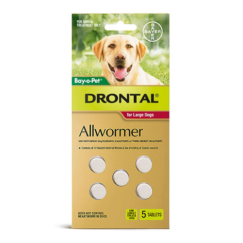 Drontal Wormers Tabs For Dogs 35Kg (Red)