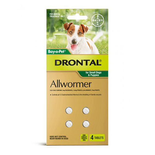 Drontal Wormers Tabs For Dogs 3Kg (Green)