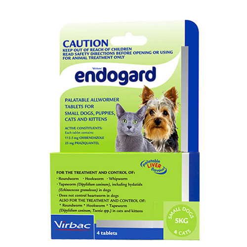 Endogard For Dogs For Small Dogs/Puppies 5Kg (Green)