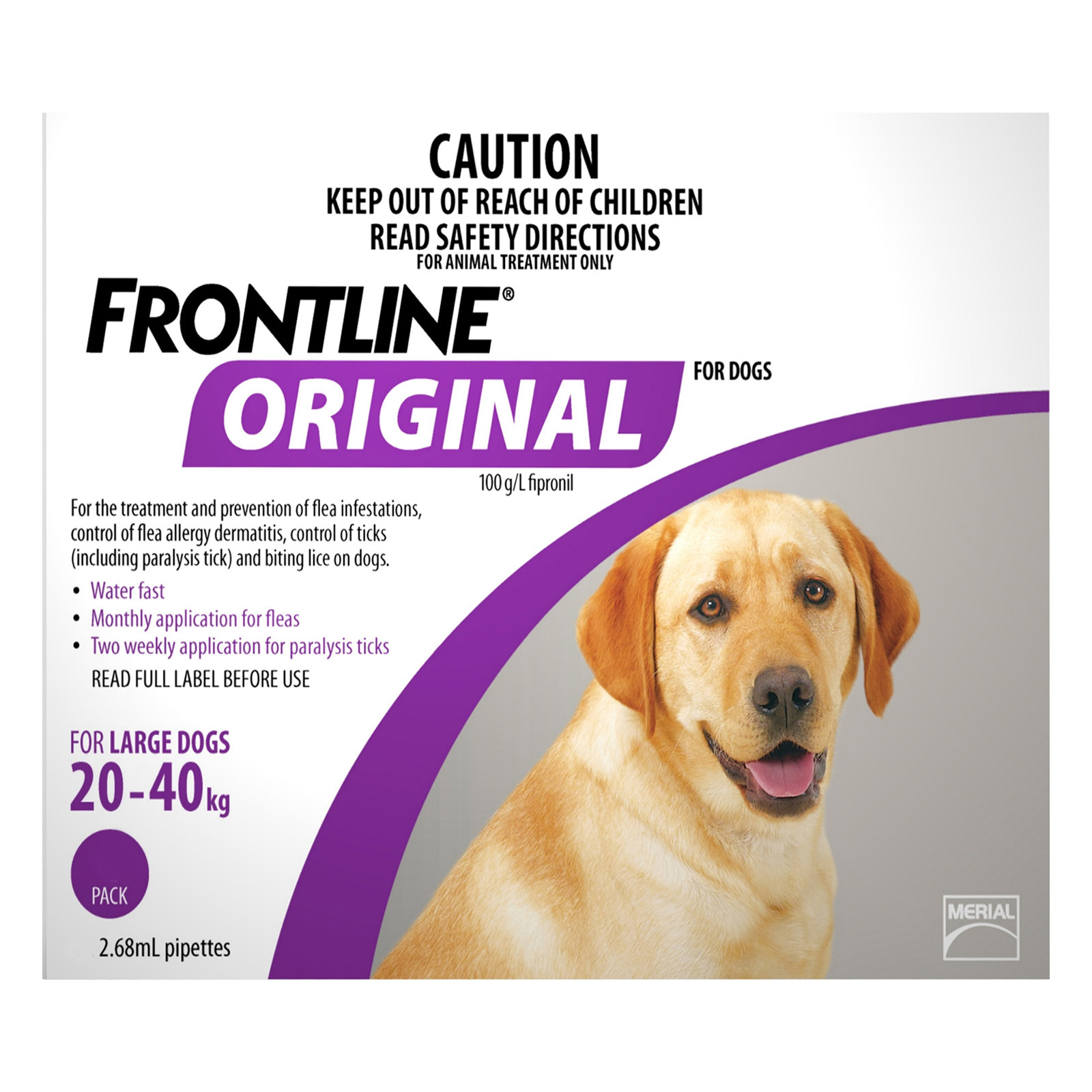 Frontline Original For Large Dogs 20-40 Kg (Purple)