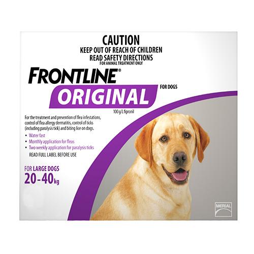 Frontline Original For Large Dogs 20-40 Kg (Purple)