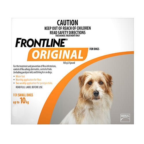 Frontline Original For Small Dogs Up To 10Kgs (Orange)