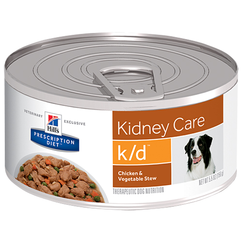 Hill's Prescription Diet k/d Kidney Care with Chicken Canned Dog Food Chicken and Vegetable Stew 156 gm