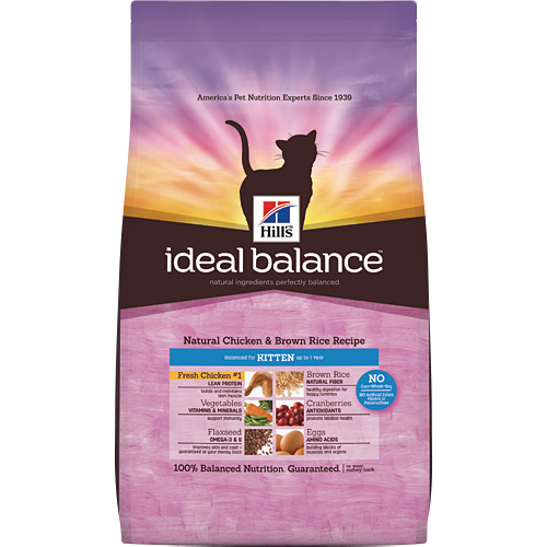 Hill's Ideal Balance Natural Chicken & Brown Rice Recipe Kitten Dry