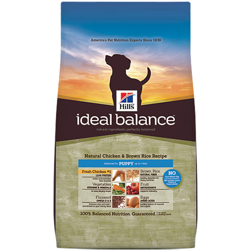 Hill's Ideal Balance Natural Chicken & Brown Rice Recipe Puppy Dry