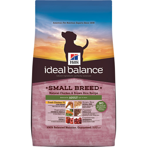 Hill's Ideal Balance Small Breed Natural Chicken & Brown Rice Recipe Adult Canine Dry