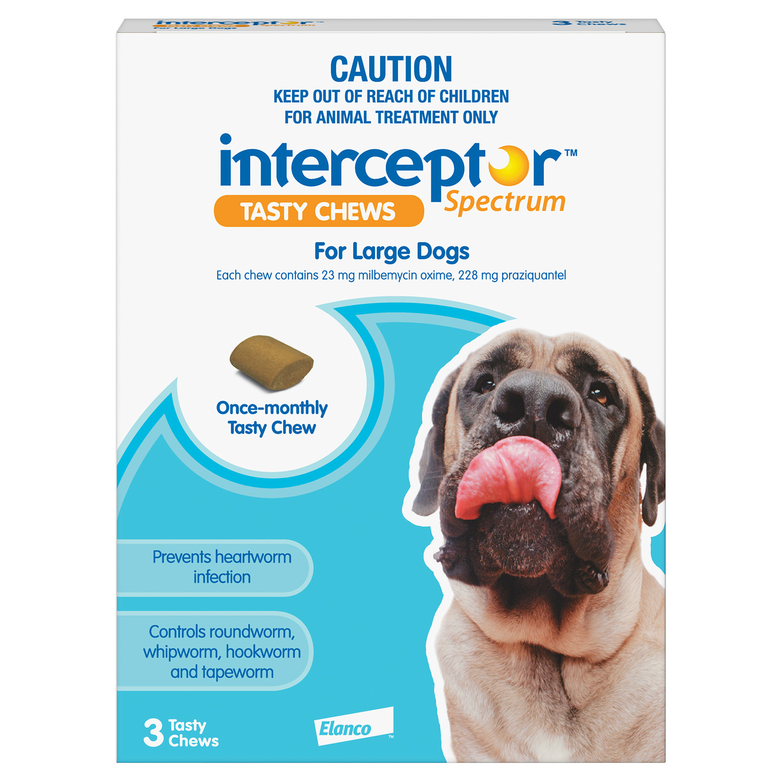 Interceptor Spectrum Tasty Chews For Large Dogs 22 To 45Kg (Blue)