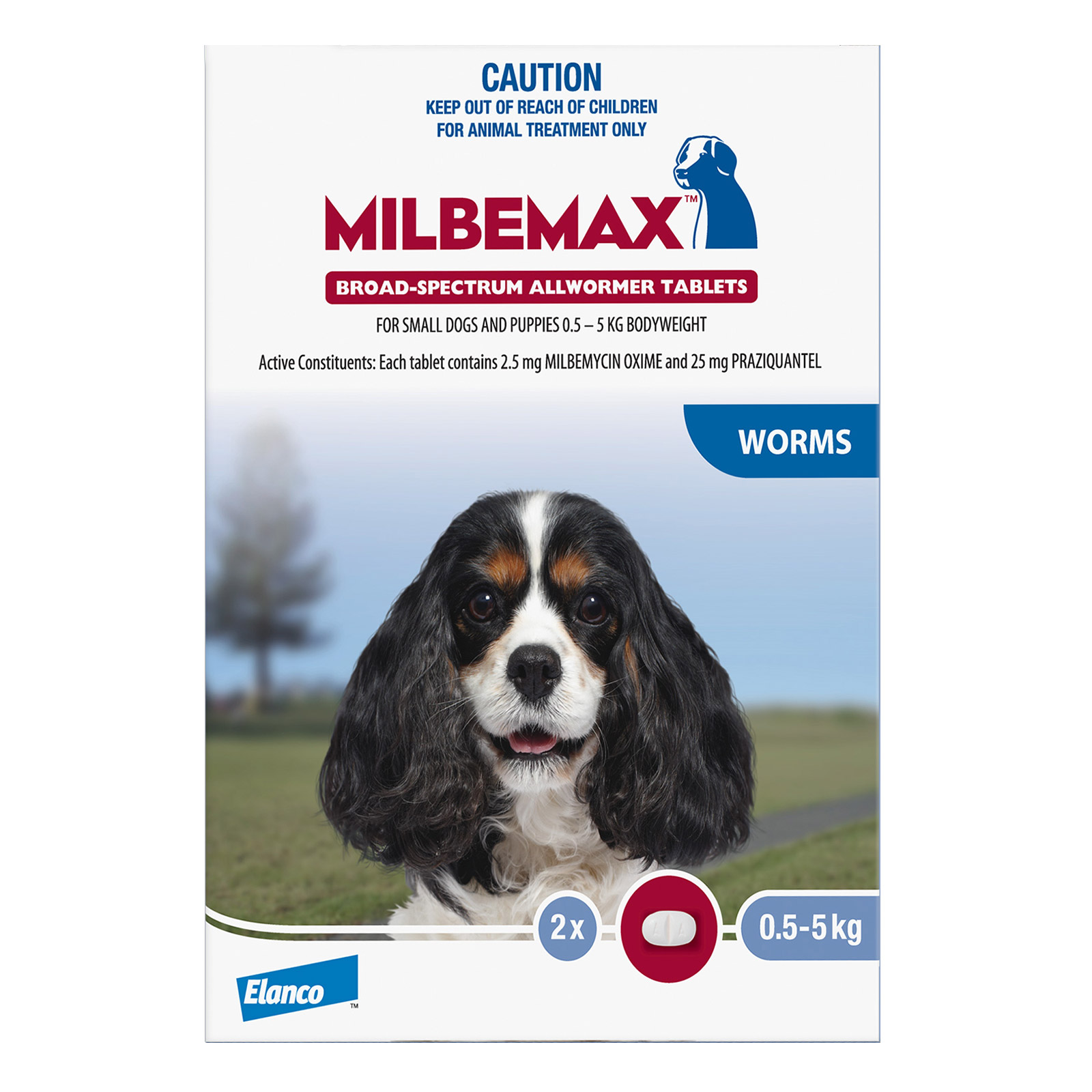 Milbemax Allwormer Tablets For Small Dogs 0.5 To 5 Kg