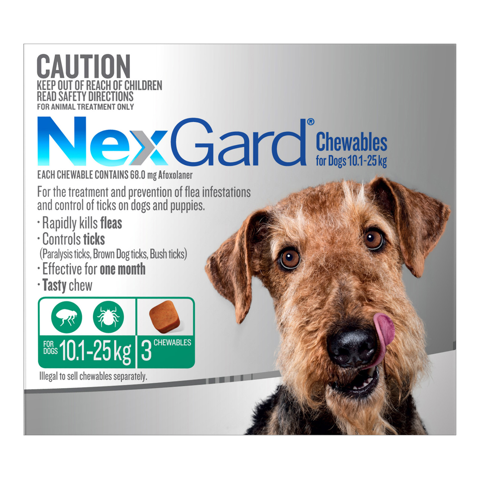 Chewables For Medium Dogs (10.1 - 25 Kg) Green