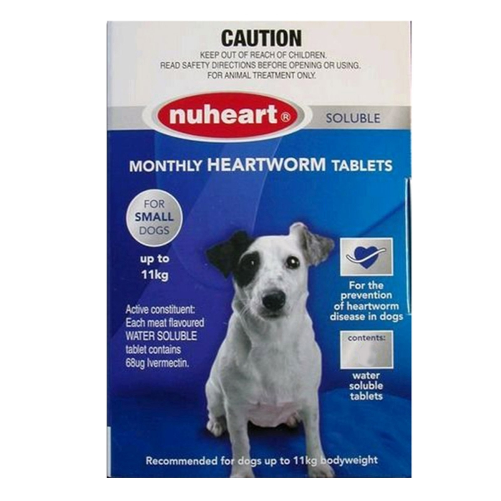 Generic Heartgard For Small Dogs - Nuheart Up To 11Kg (Blue)