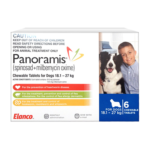 Panoramis Chewable Tablets For Dogs 18.1 - 27 Kg (Blue)