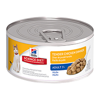 Hill's Science Diet Adult 7+ Tender Dinners Chicken Canned Cat Food