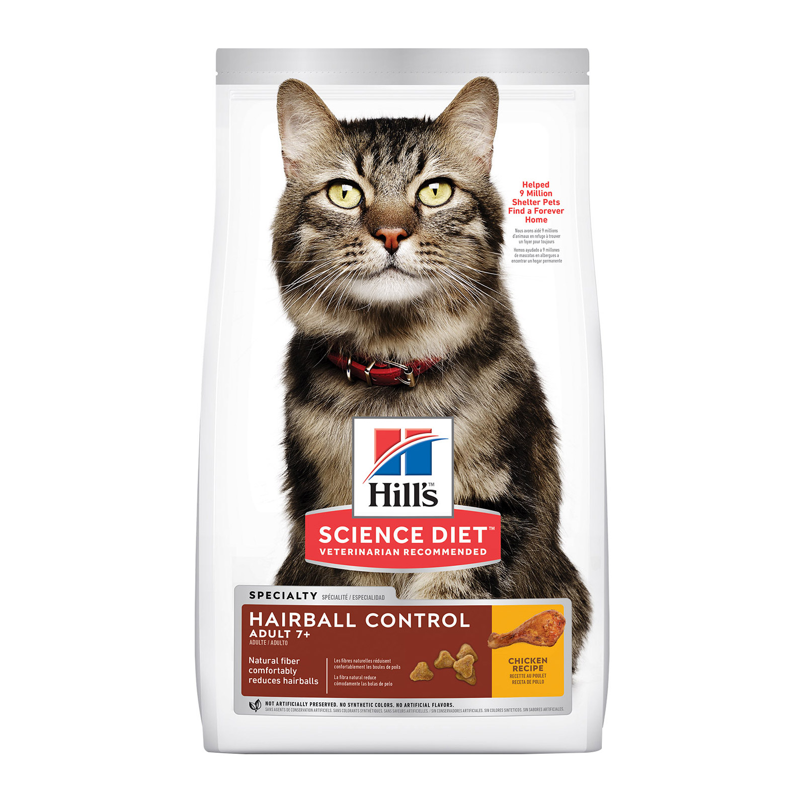 Hill's Science Diet Adult 7+ Hairball Control Chicken Senior Dry Cat Food