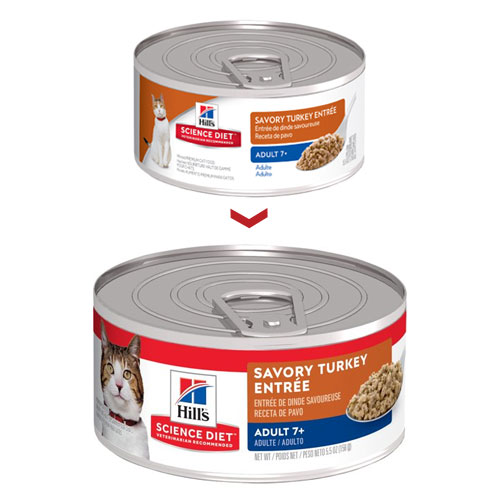 Hill's Science Diet Adult 7+ Savory Turkey Entrée Senior Canned Wet Cat Food