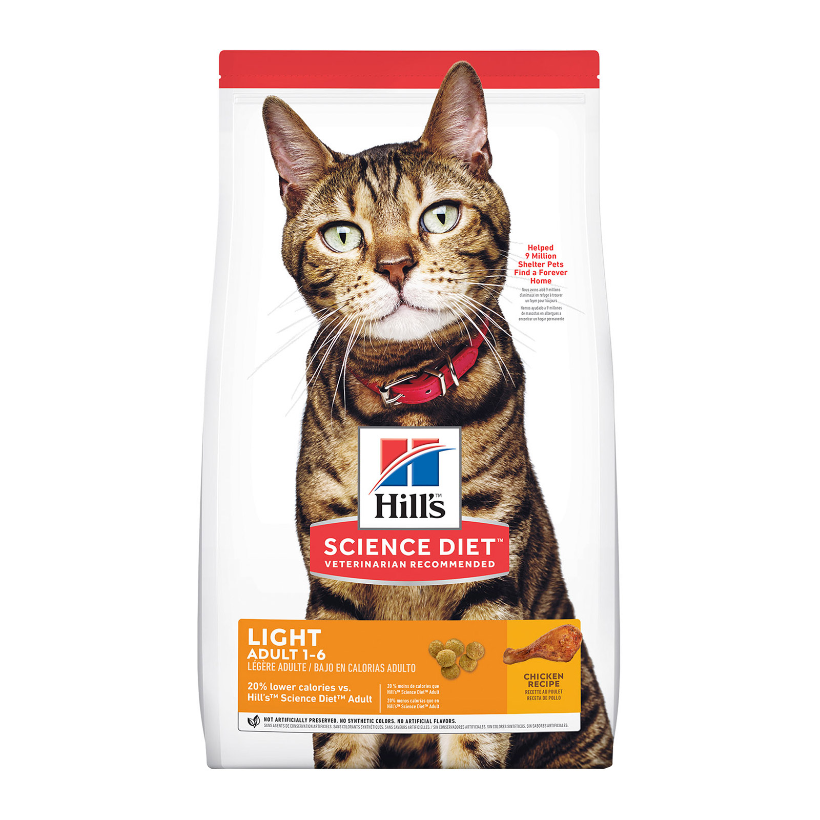 Hill's Science Diet Adult Light Chicken Dry Cat Food