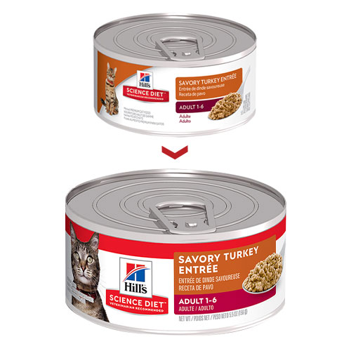 Hill's Science Diet Adult Savory Turkey Entrée Canned Wet Cat Food