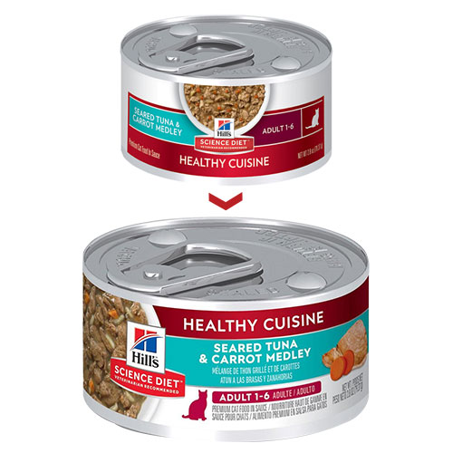 Hill's Science Diet Adult Healthy Cuisine Seared Tuna & Carrot Medley Canned Cat Food