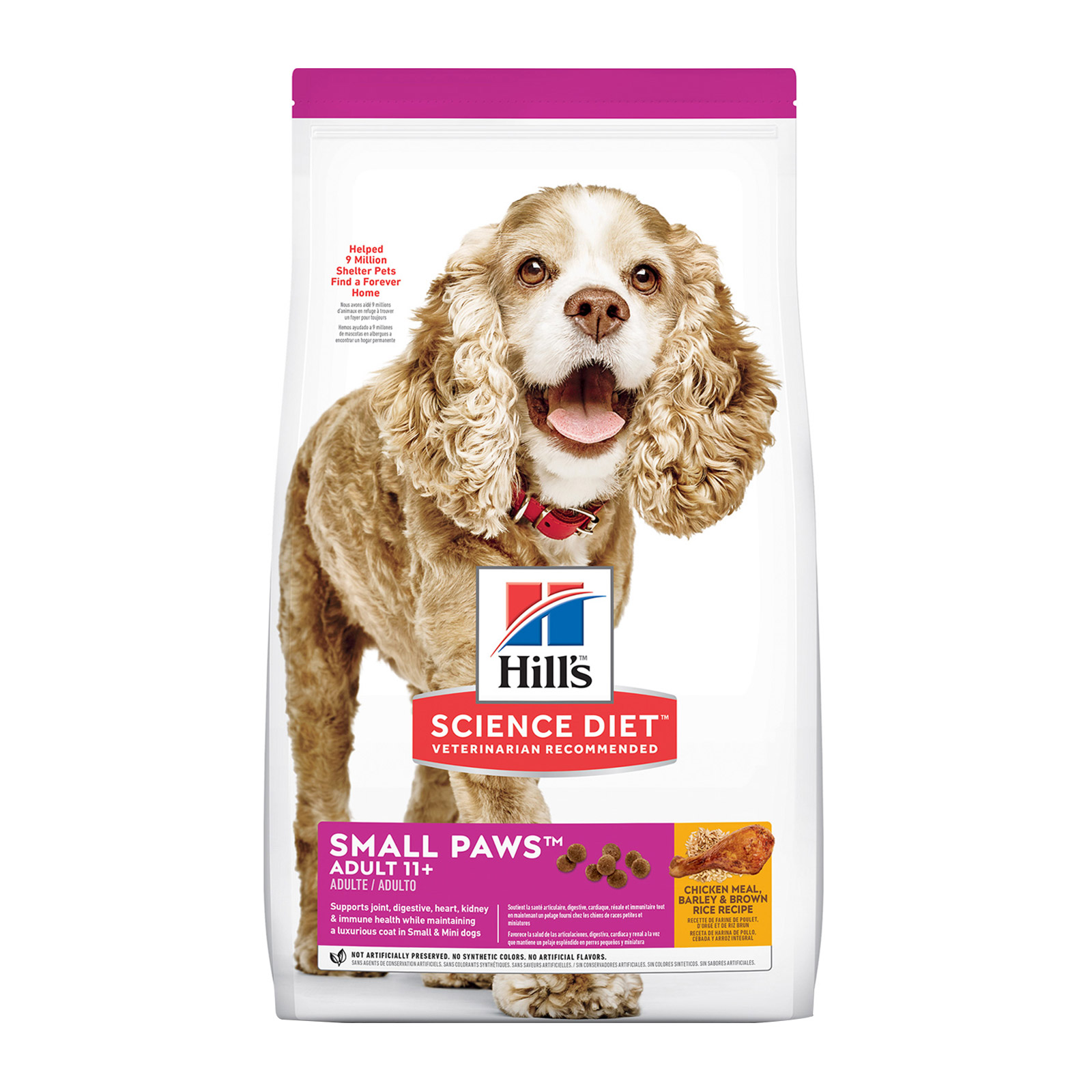Hill's Science Diet Adult 11+ Small Paws Chicken, Barley & Rice Dry Dog Food   2.04 Kgs