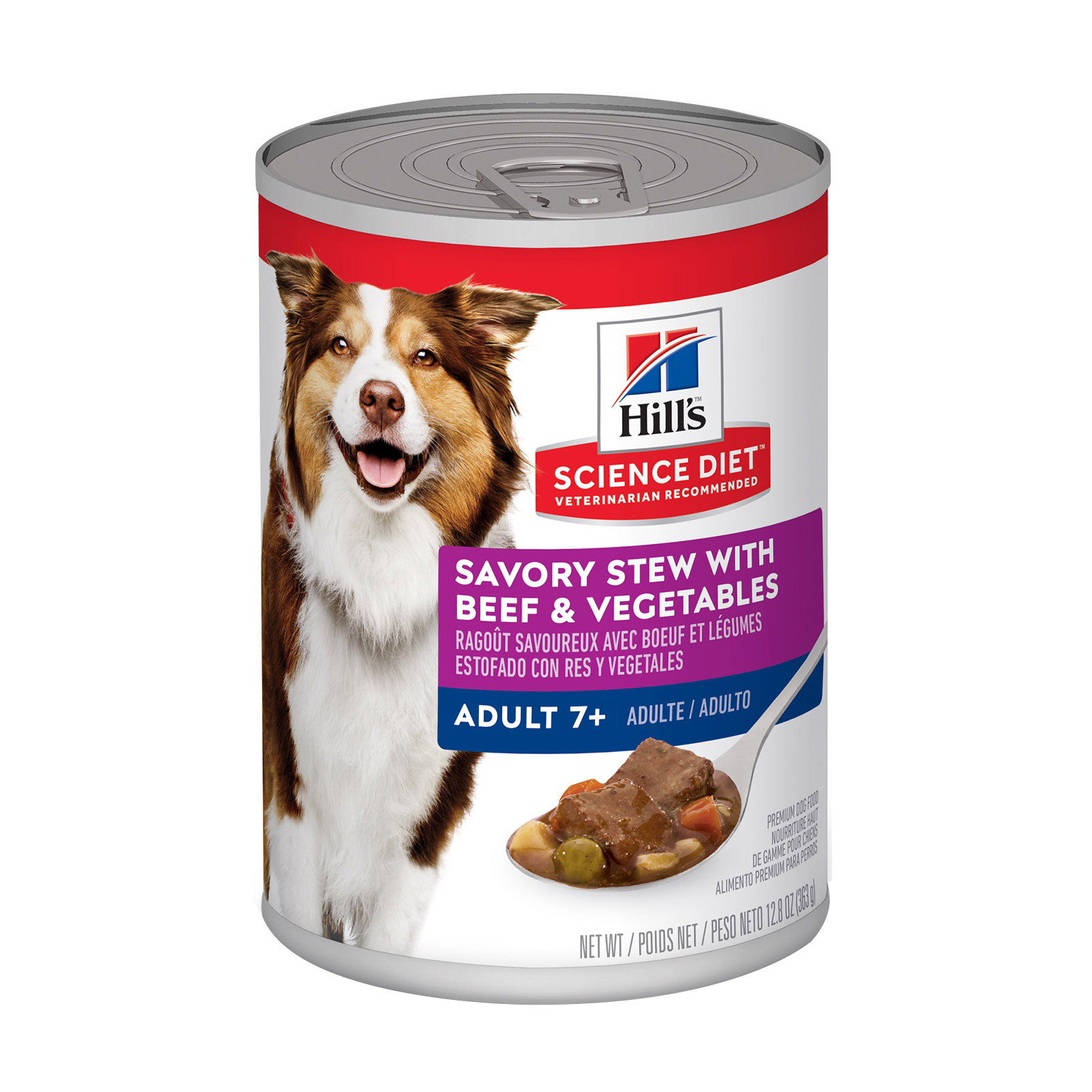 Hill's Science Diet Adult 7+ Savory Stew Beef & Vegetable Canned Dog Food