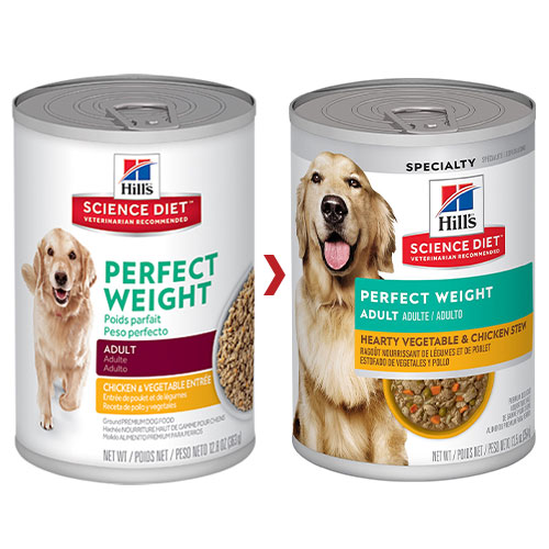 Hill's Science Diet Adult Perfect Weight Chicken & Vegetables Canned Dog Food
