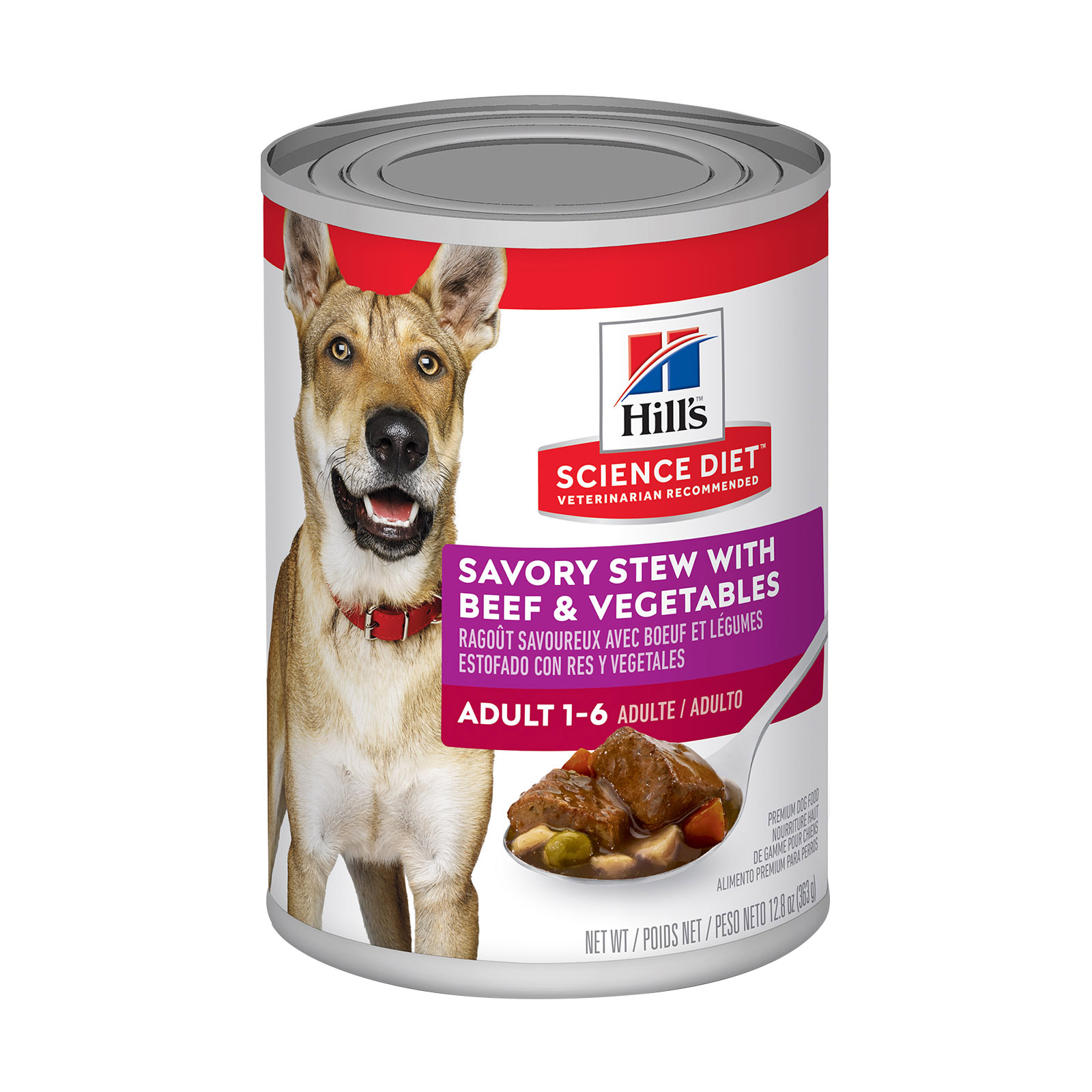 Hill's Science Diet Adult Savory Stew Beef & Vegetable Canned Dog Food