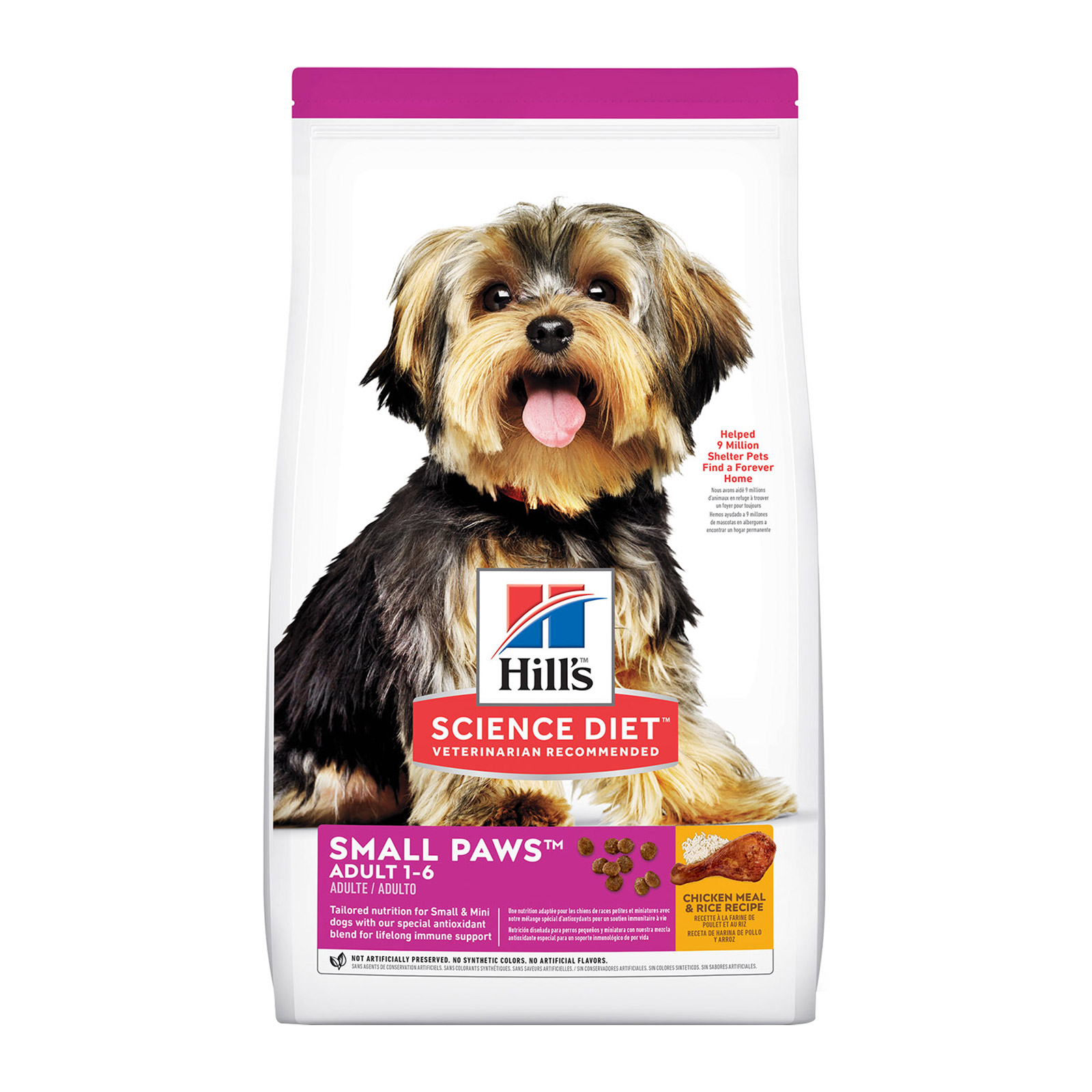 Hill's Science Diet Adult Small Paws Chicken Meal & Rice Dry Dog Food