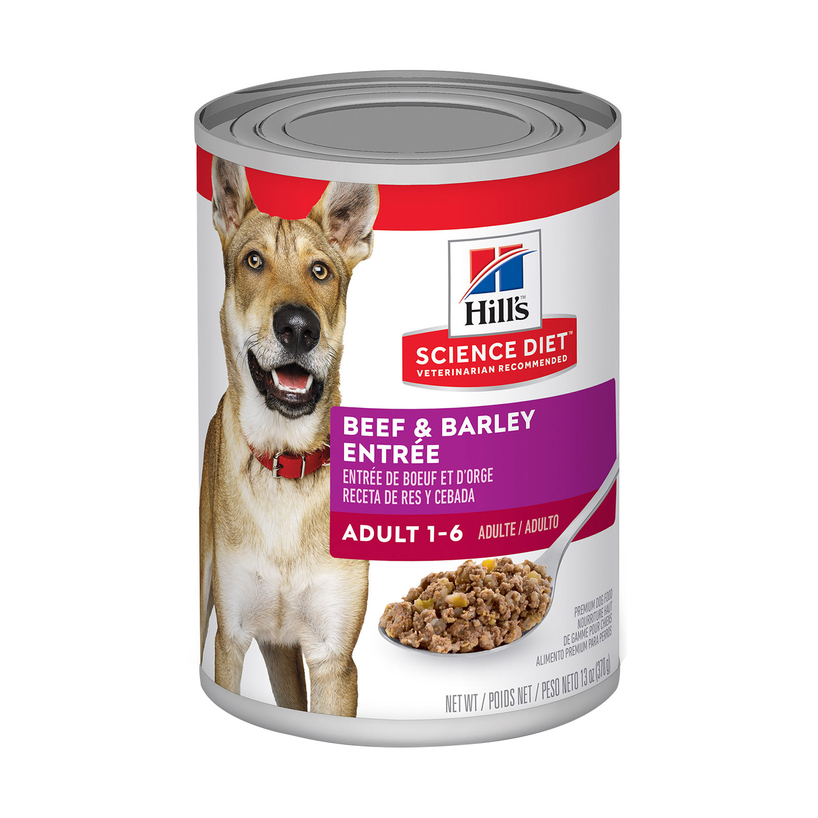 Hills Science Diet Adult Beef & Barley Entrée Canned Dog Food