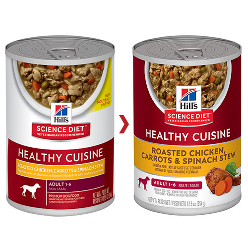 Hill's Science Diet Adult Healthy Cuisine Roasted Chicken, Carrots & Spinach Stew Canned Dog Food