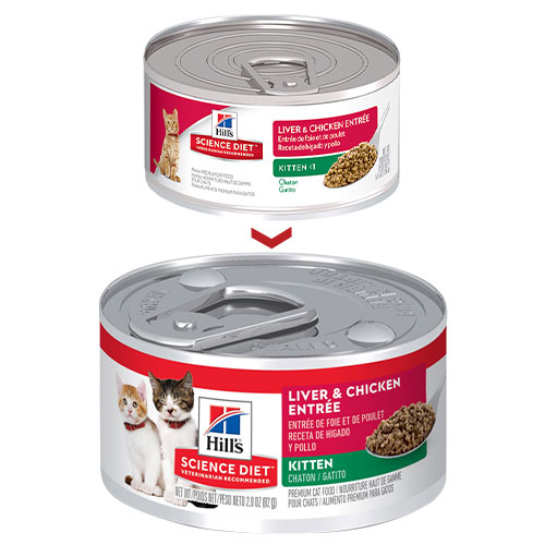 Hill's Science Diet Kitten Liver Chicken Entrée Canned Wet Cat Food