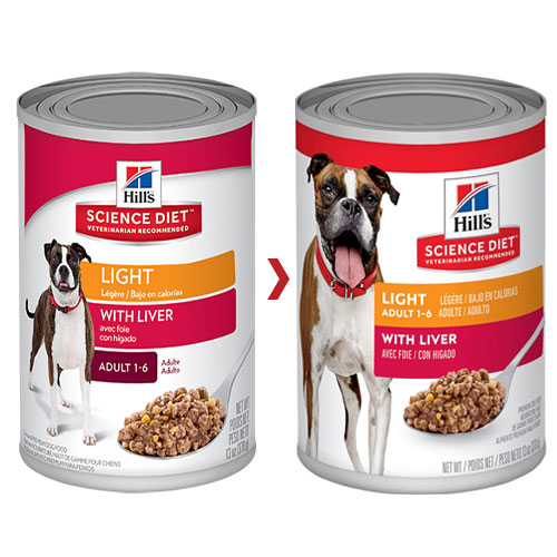 Hill's Science Diet Adult Light Liver Canned Dog Food
