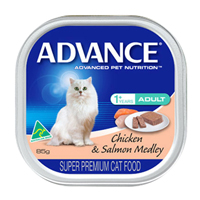 Advance Adult Cat With Chicken & Salmon Medley Cans 85 Gm
