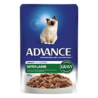 Advance Lamb in Gravy Adult Cat Wet Food Pouch 85gmX12