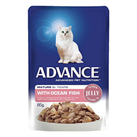 Advance Ocean Fish in Jelly Mature Cat 8+ Years Wet Food Pouch