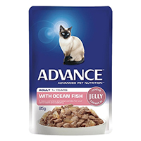 Advance Ocean Fish in Jelly Adult Cat Wet Food Pouch