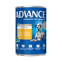 Advance Adult Dog Sensitive All Breed with Chicken & Rice Cans