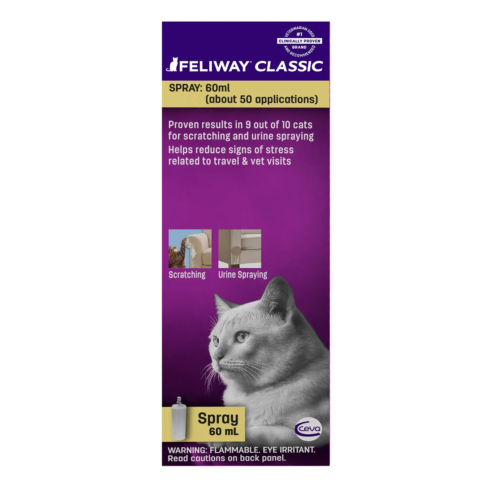 Feliway Spray   60 Ml (Extra 40% Off)