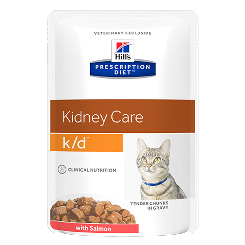 Hill's Prescription Diet k/d Kidney Care Salmon Cat Wet Pouch