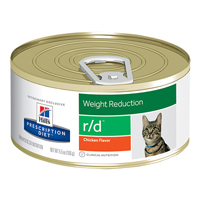 Hill's Prescription Diet r/d Weight Reduction with Chicken Flavor Canned Cat Food