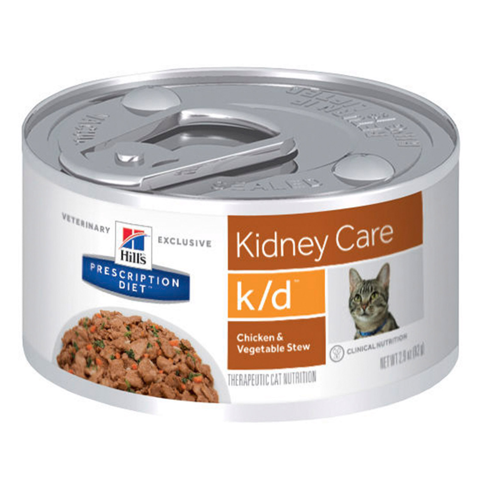 Hill's Prescription Diet k/d Kidney Care with Chicken & Vegetable Stew Canned Cat Food