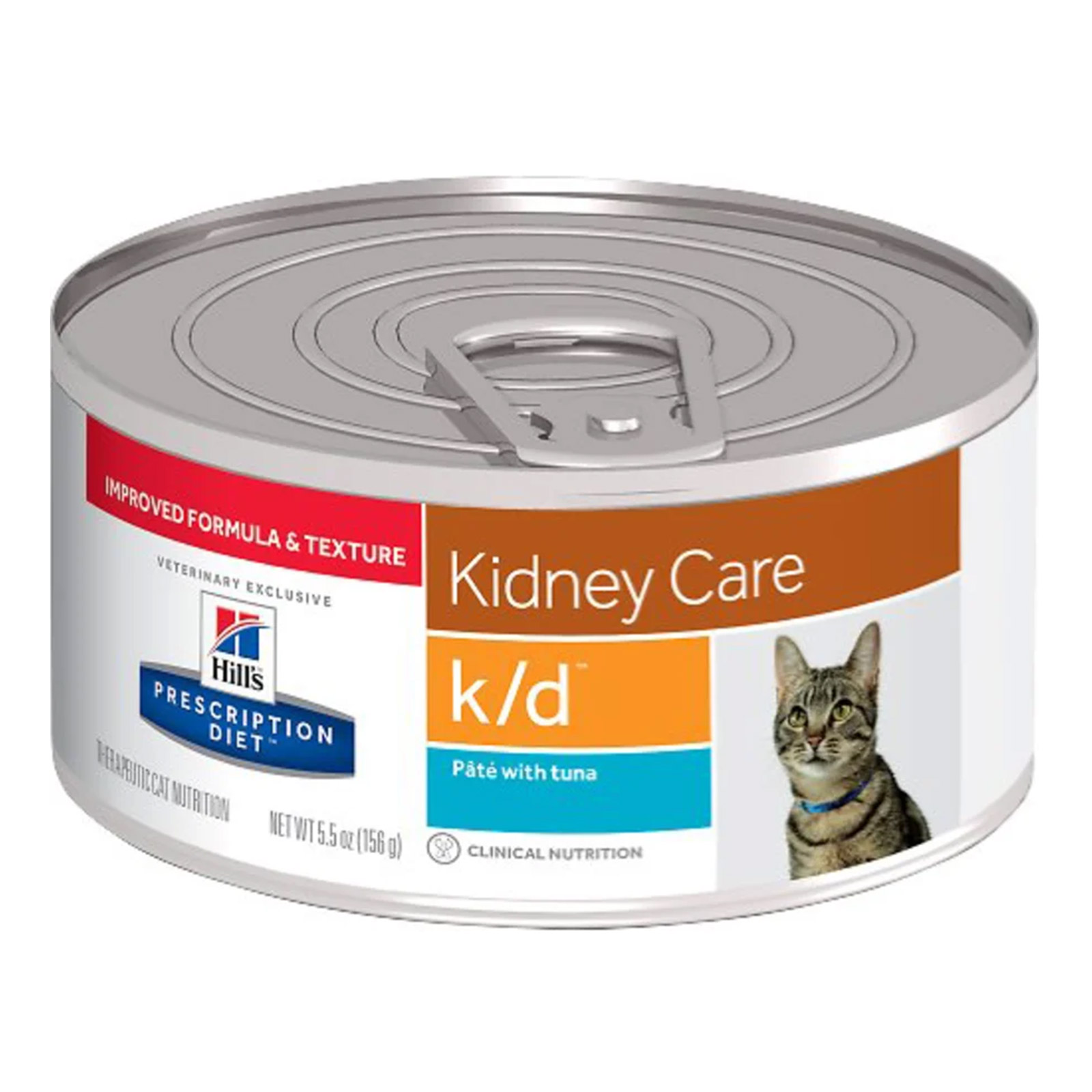 Hill's Prescription Diet K/D Kidney Care With Tuna Canned Cat Food 156 Gm 24 Cans