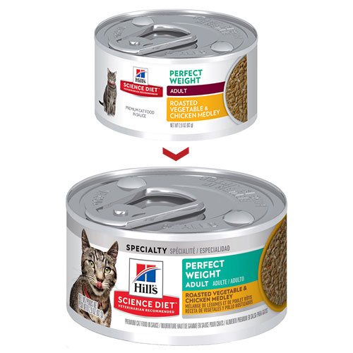 Hill's Science Diet Adult Perfect Weight Vegetable & Chicken Canned Cat Food