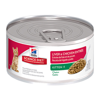 Hill's Science Diet Kitten Liver & Chicken Entree Cans