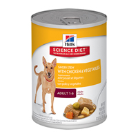 Hill's Science Diet Adult Savory Stew Chicken & Vegetable Canned Dog Food