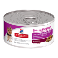 Hill's Science Diet Adult Small & Toy Breed Savory Stew Beef & Vegetable Canned Dog Food