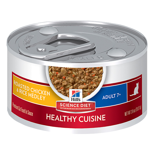Hill's Science Diet Adult 7+ Roasted Chicken & Rice Medley Canned Cat Food