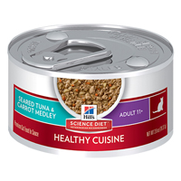 Hill's Science Diet Adult 11+ Cat Food Seared Tuna & Carrot Medley Canned Cat Food