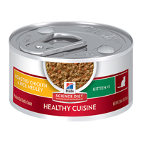 Hill's Science Diet Kitten Healthy Cuisine Roasted Chicken & Rice Medley Cans