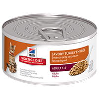 Hill's Science Diet Adult Savory Turkey Entrée Canned Cat Food