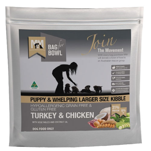 Meals for Mutts Hypoallergenic Grain Free Gluten Free Turkey & Chicken Puppy and Whelping Dog Food